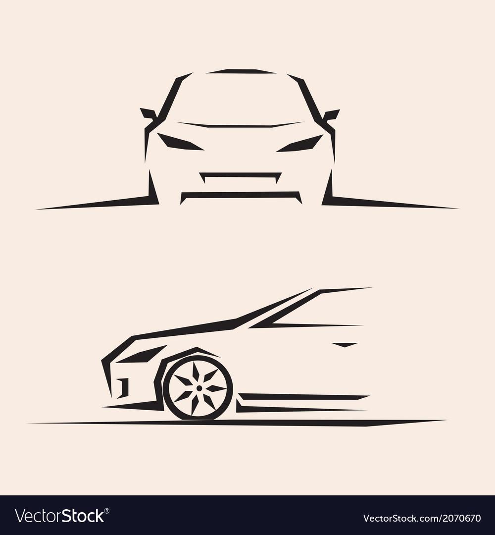 Sport car sketch vector image