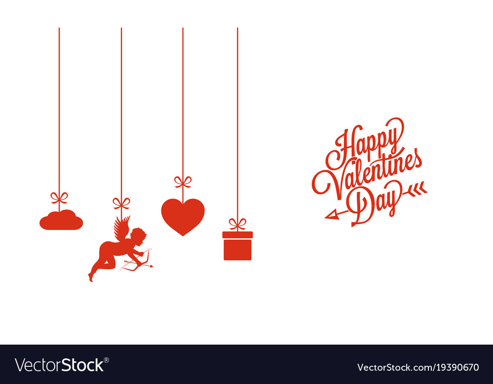 Valentines Day Card On White Background Royalty Free Vector