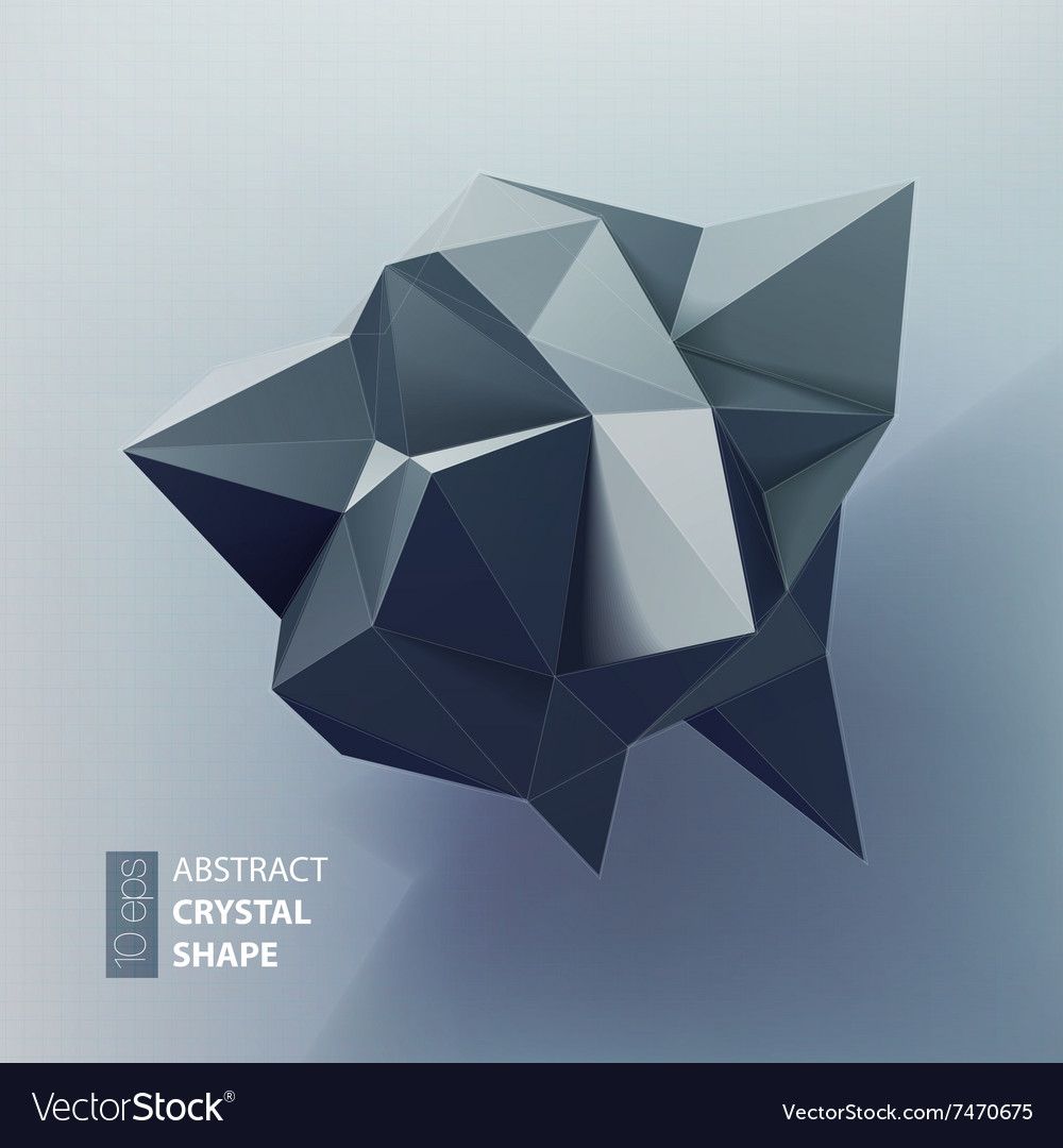 Abstract triangles space low poly
