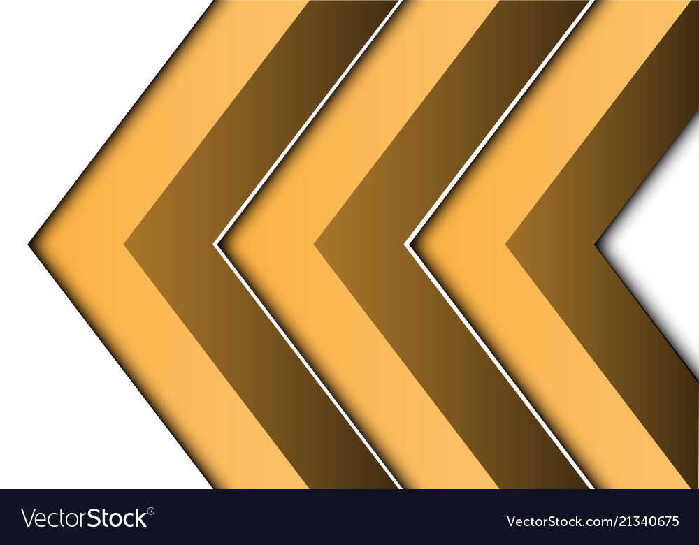 Abstract yellow arrow 3d on white direction