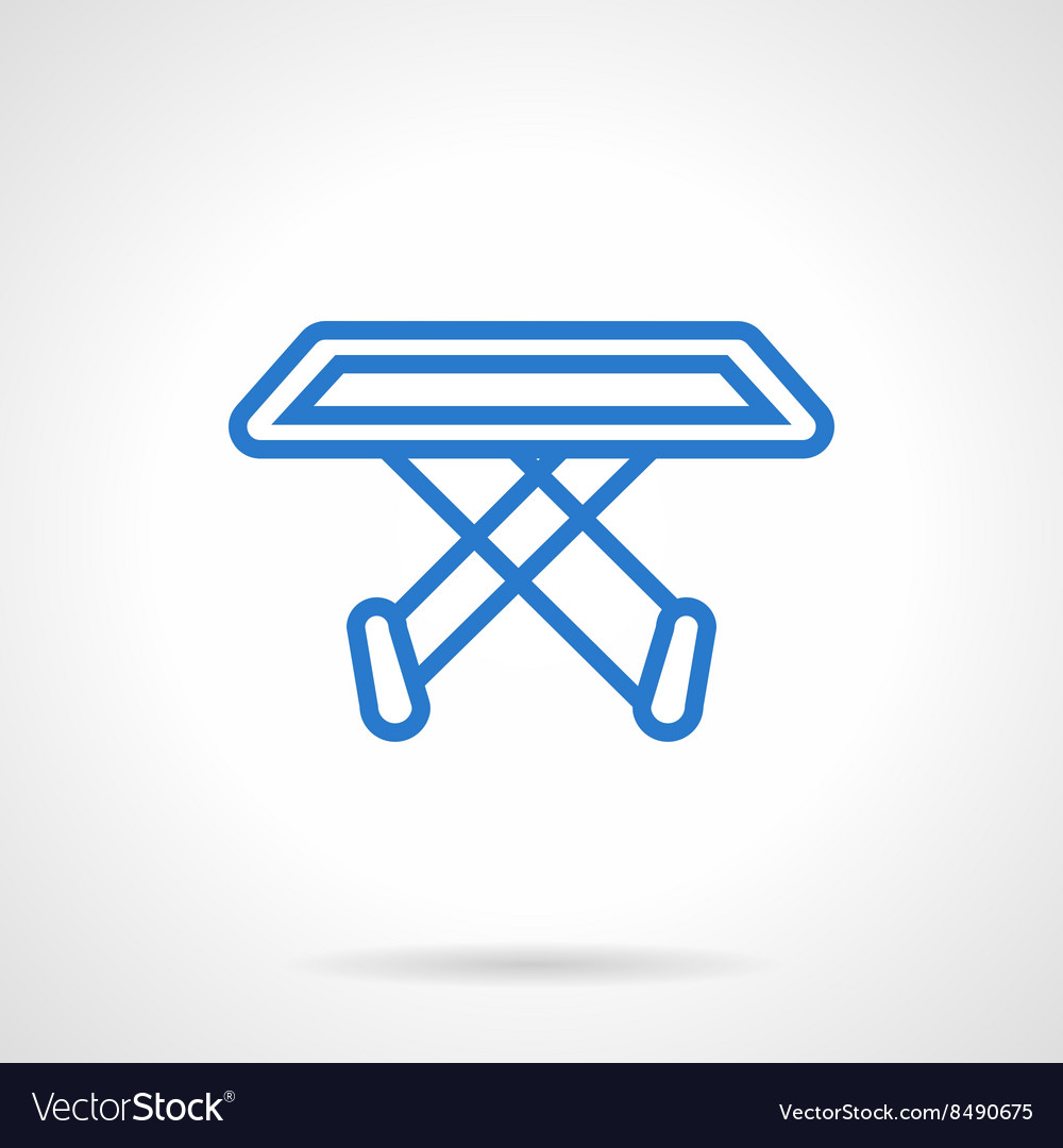 Clothes dryer stand blue line icon vector image