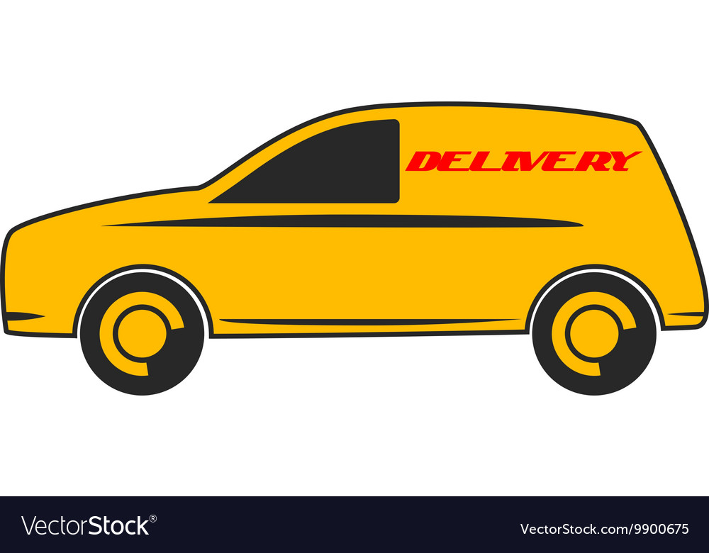 Delivery car in flat design