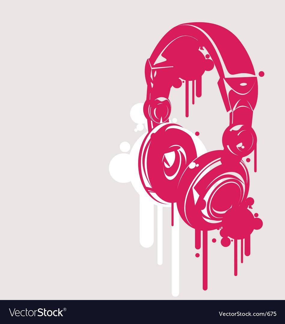Dj headphones spray style vector image