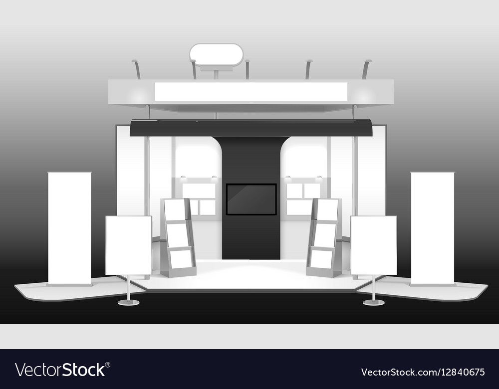 Exhibition Stand Mockup : Exhibition stand d design mockup royalty free vector image