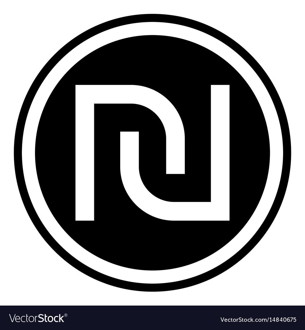 Israeli Shekel Currency Symbol Royalty Free Vector Image