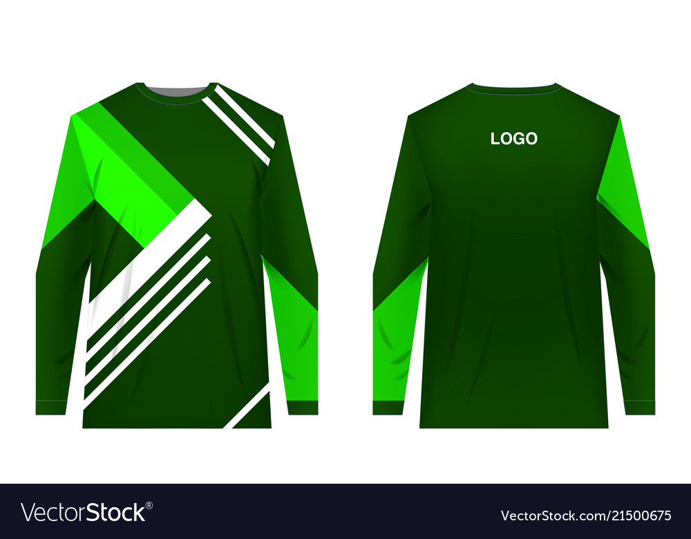 Sportswear Sublimation Print Royalty Free Vector Image