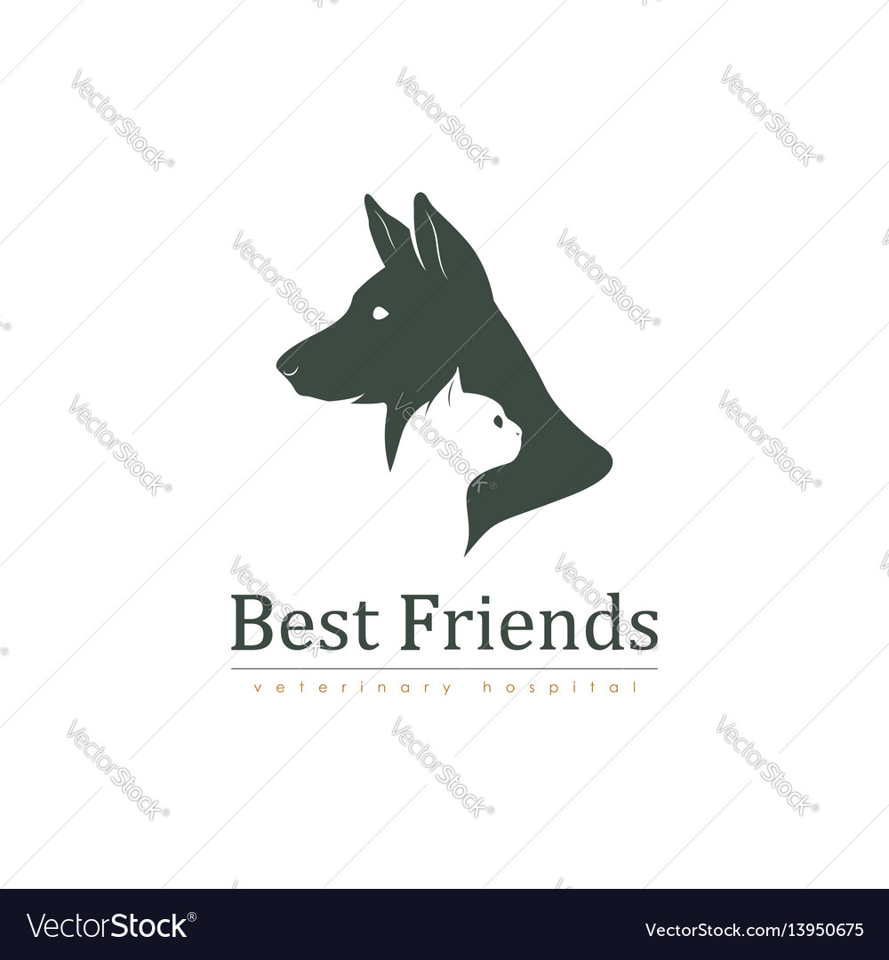 Veterinary clinic with cat and dog logo