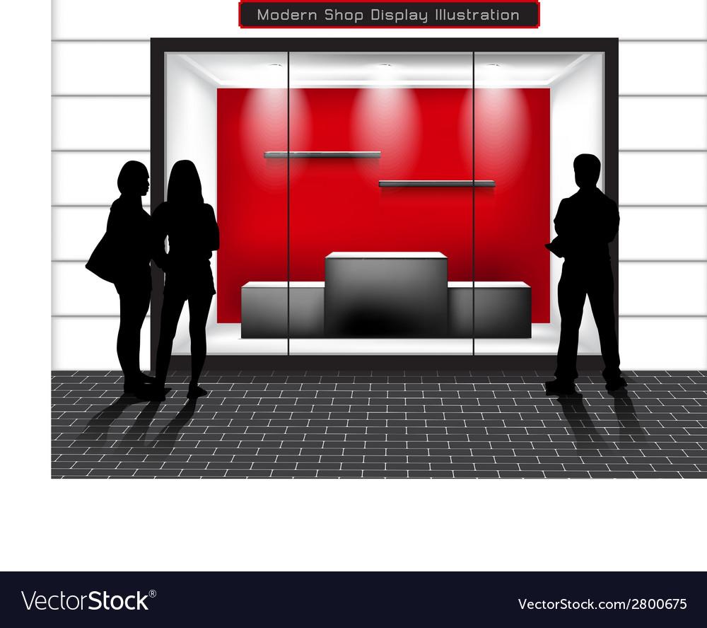 Window shop vector image