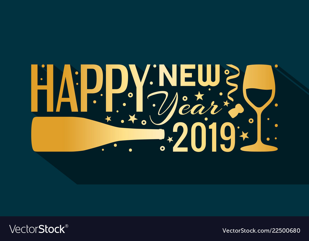 2019 happy new year banner vector image