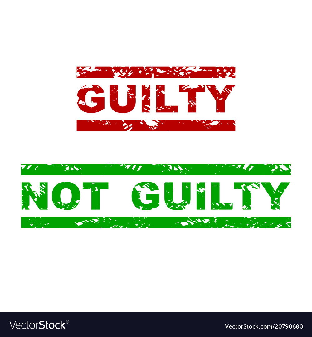 Guilty and not guilty rubber stamp