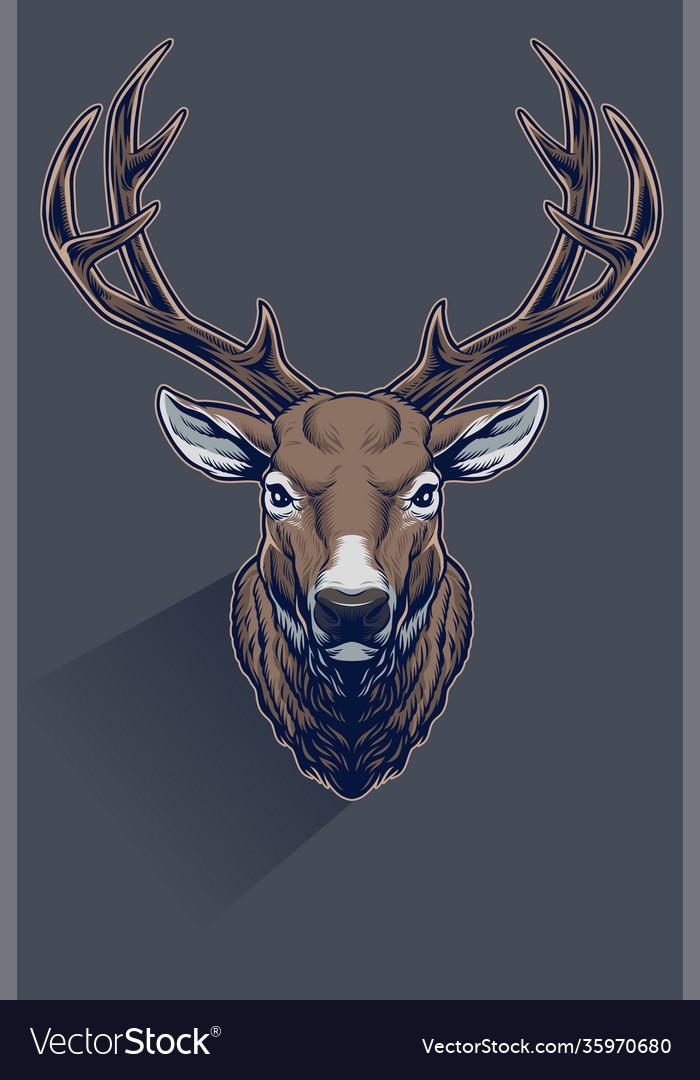 Realistic whitetail deer head
