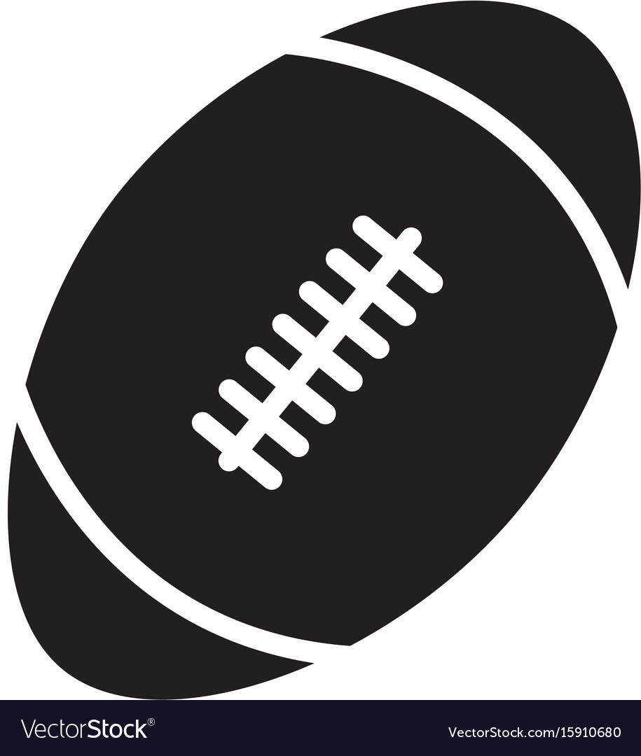 Rugby ball icon on white background rugby ball