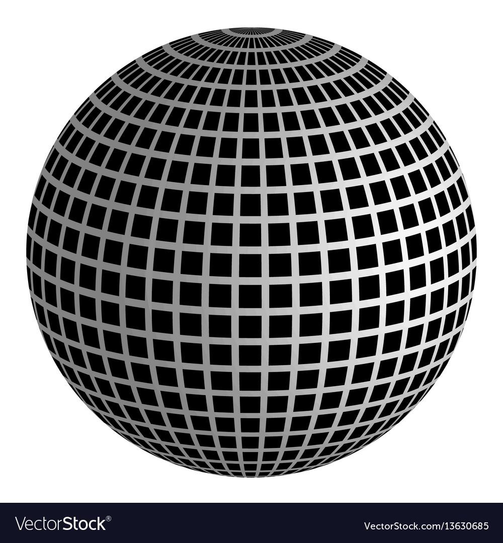 Disco ball 3d ball of mirrors