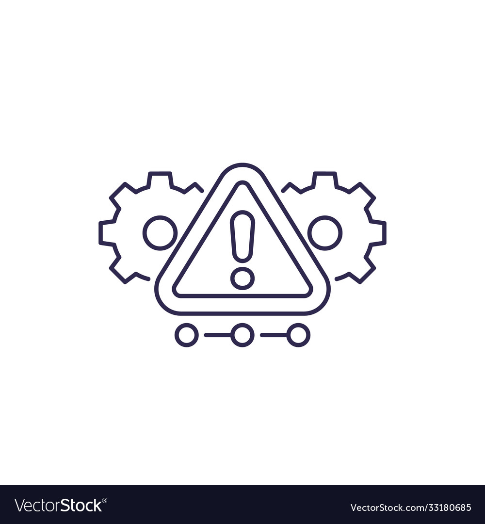 Error alert warning line icon