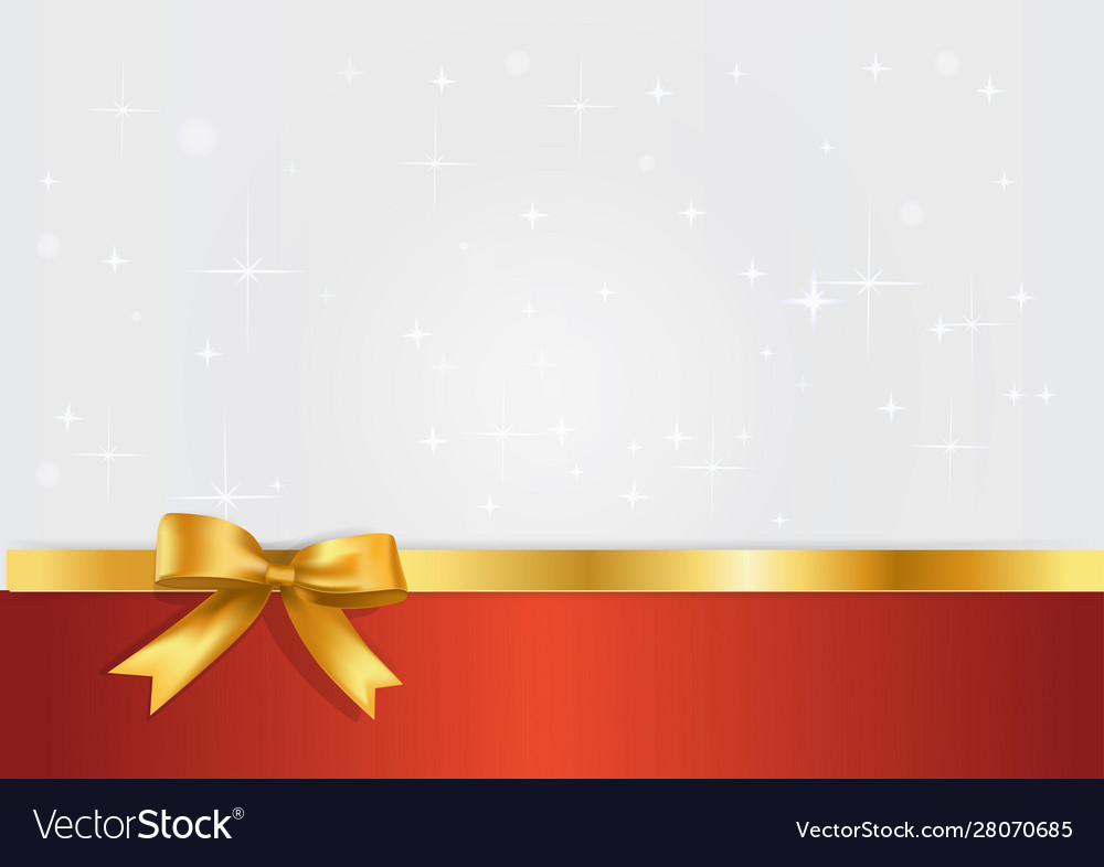 Holiday white and red banner with gift glossy