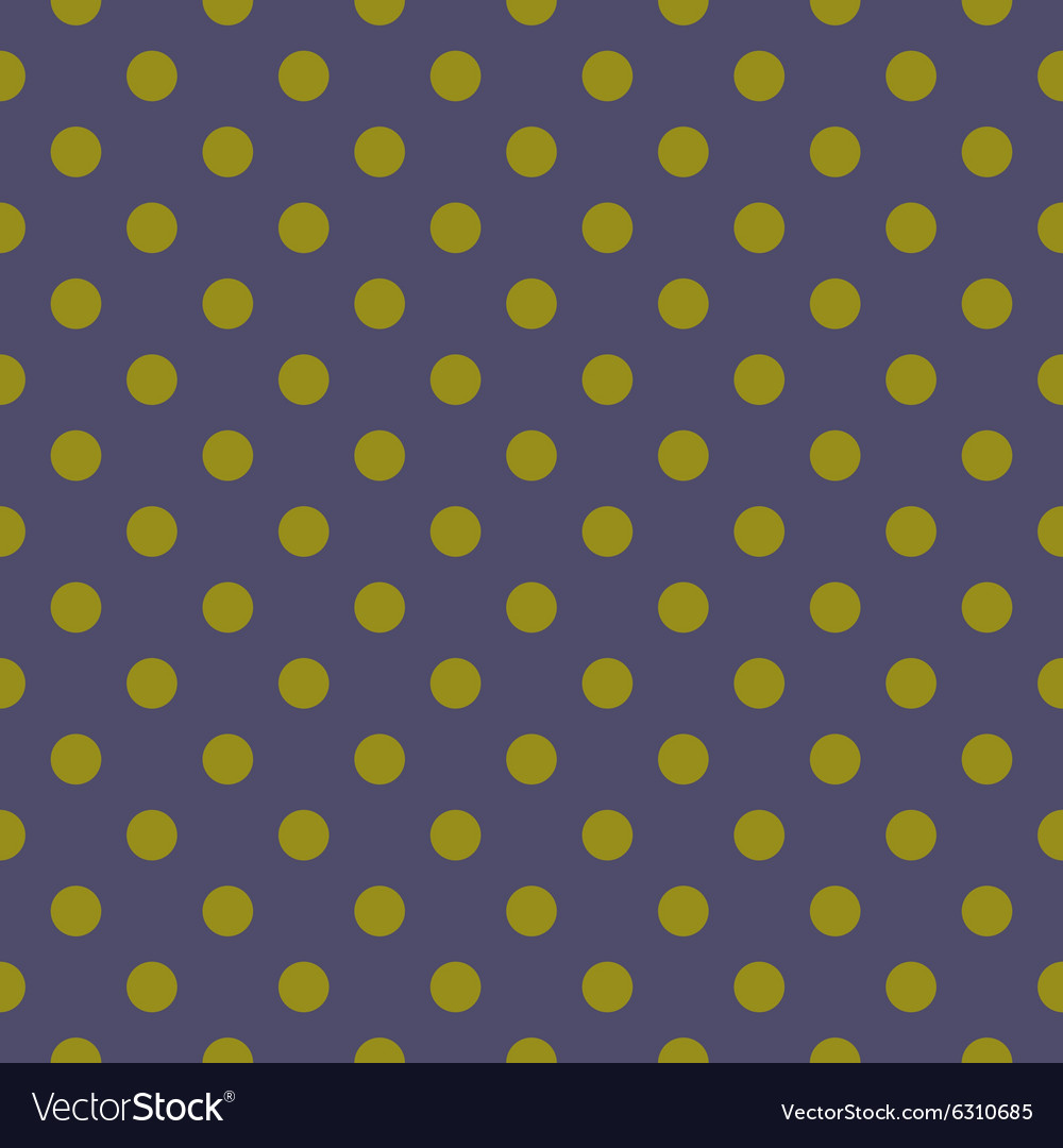Navy blue background with green polka dots vector image