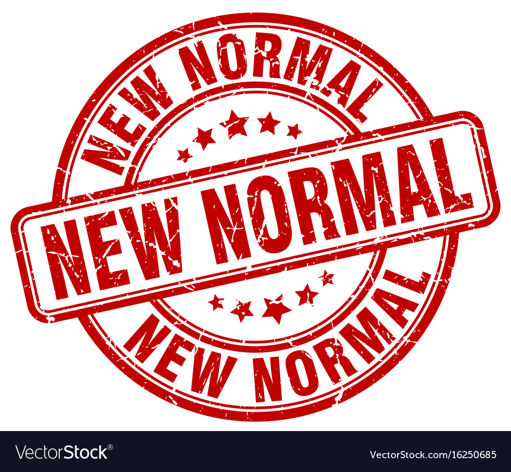 New Normal Red Grunge Stamp Royalty Free Vector Image