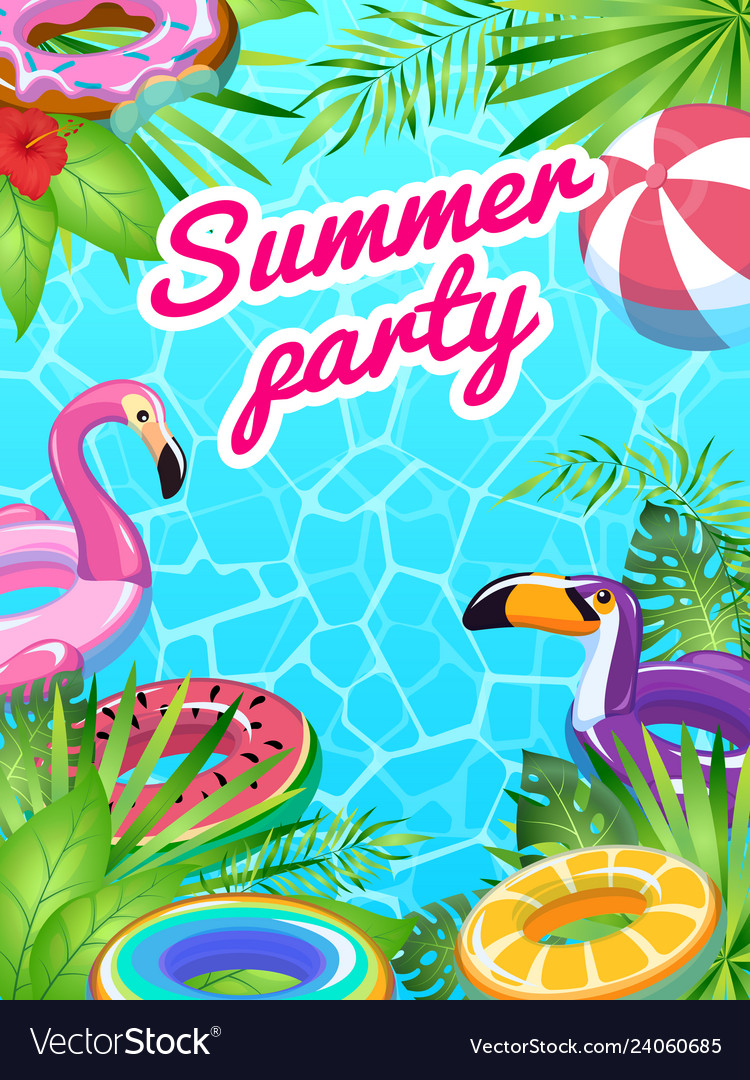 Pool party card swim summer inflatable toys