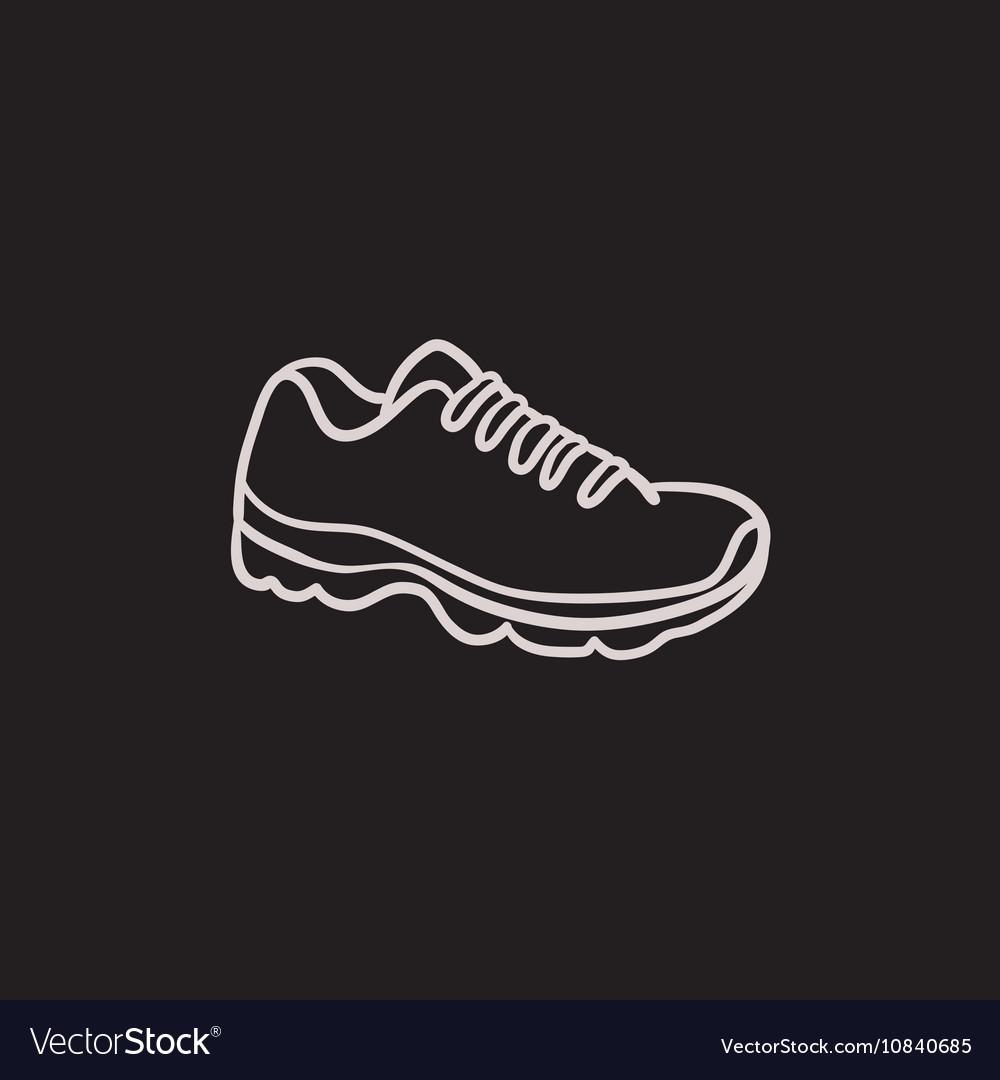 Sneaker sketch icon