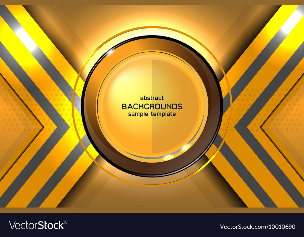 Abstract gold background technology Royalty Free Vector