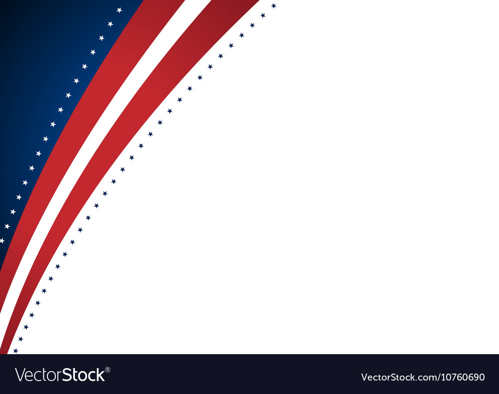 American Abstract Presidential Elections Stars vector image