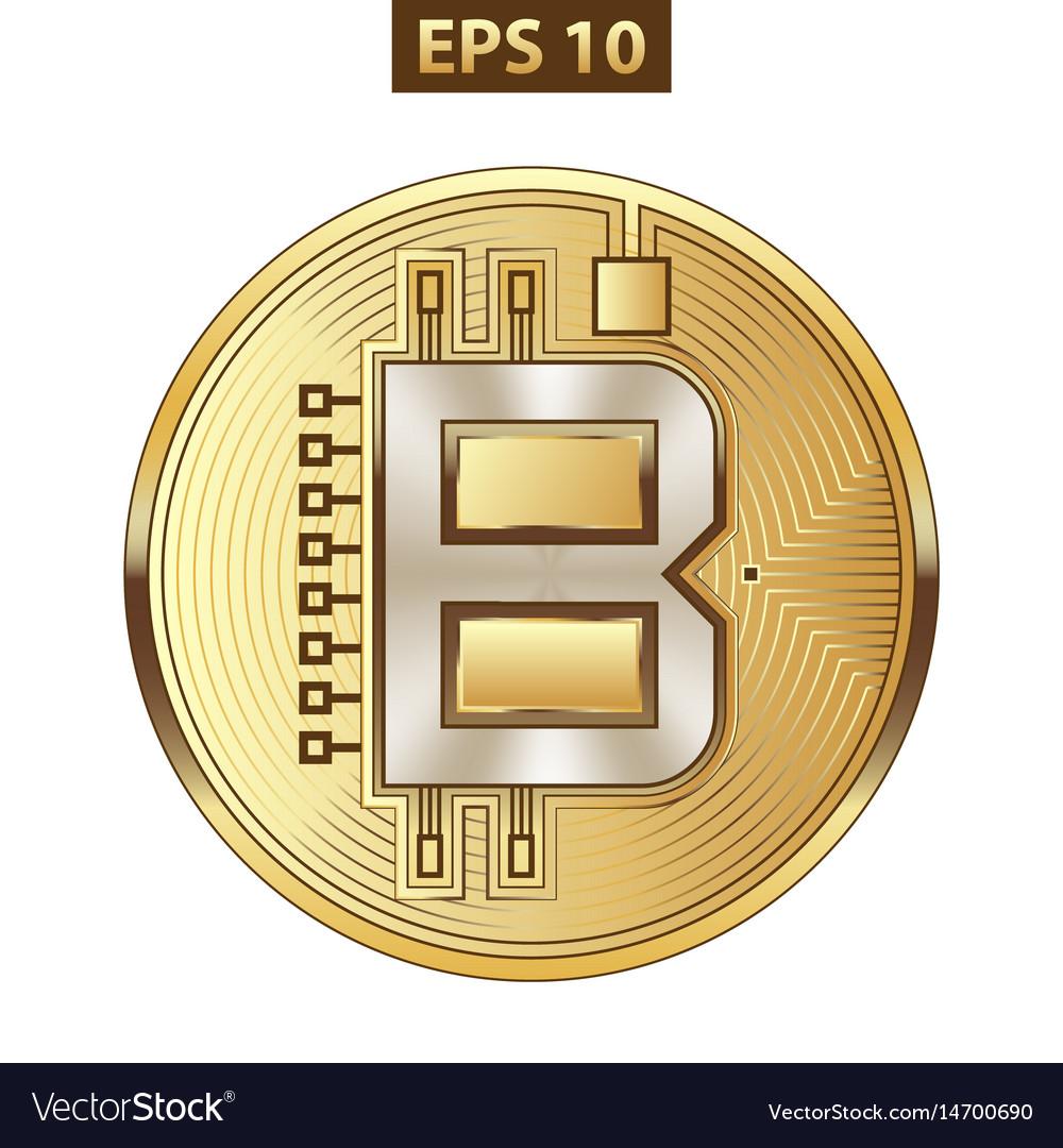 Bitcoin icon gold