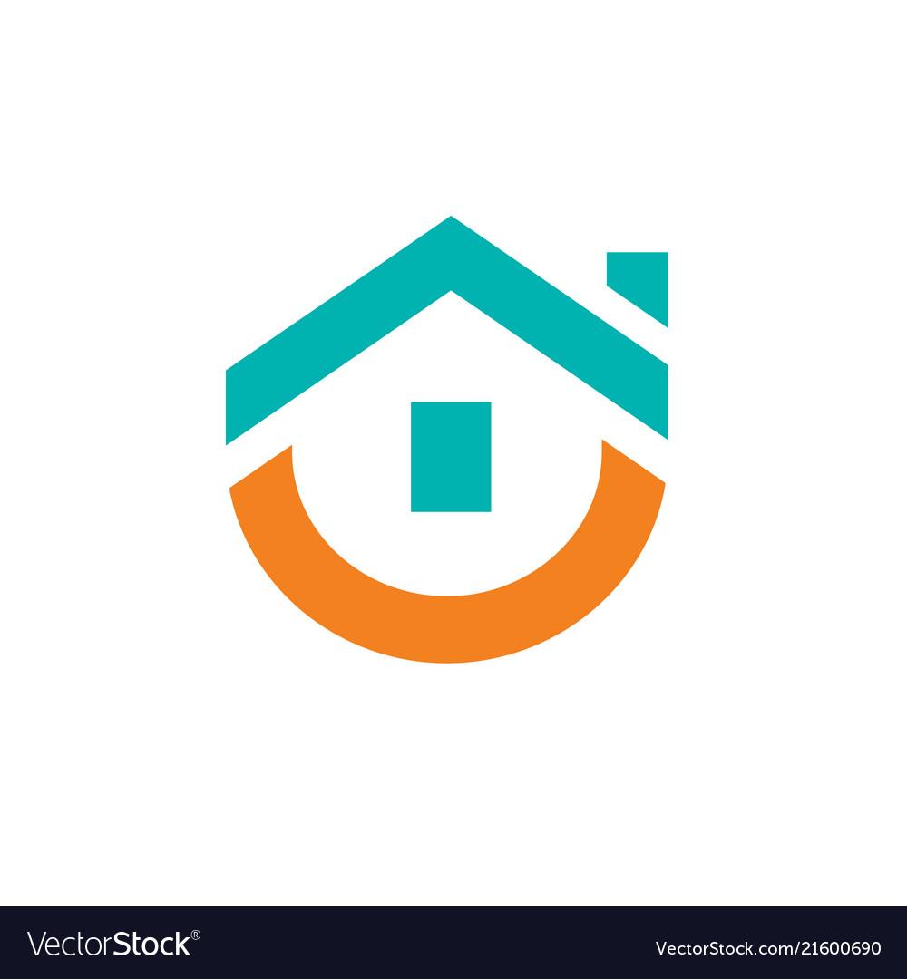 Cute house logo design