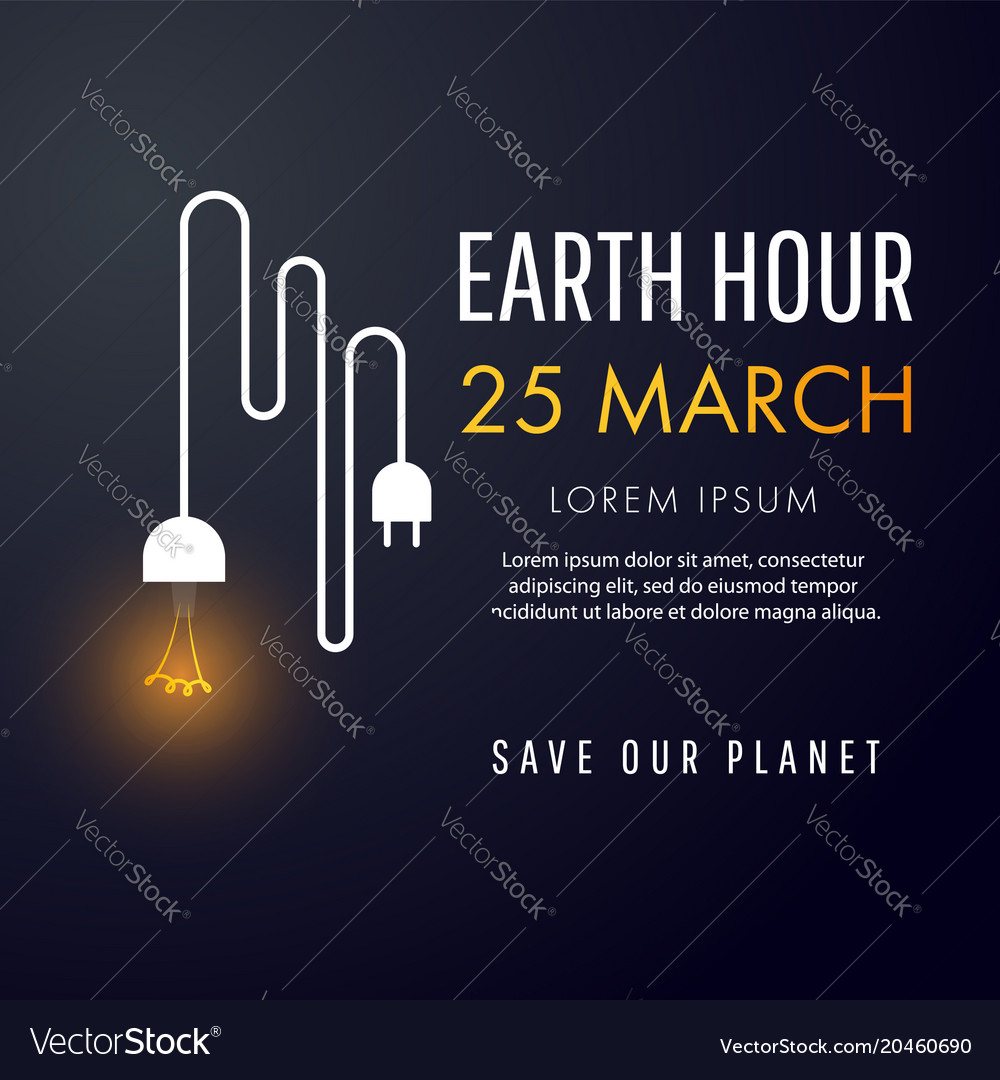 Earth hour 25 march