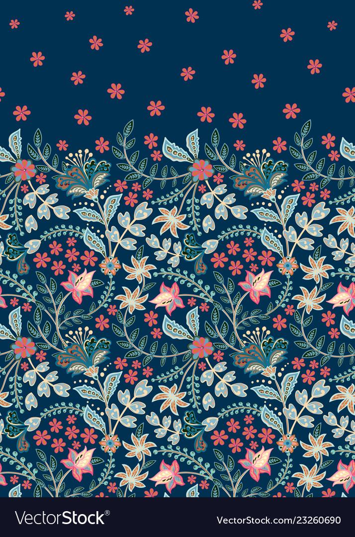 Floral vintage seamless pattern retro plants