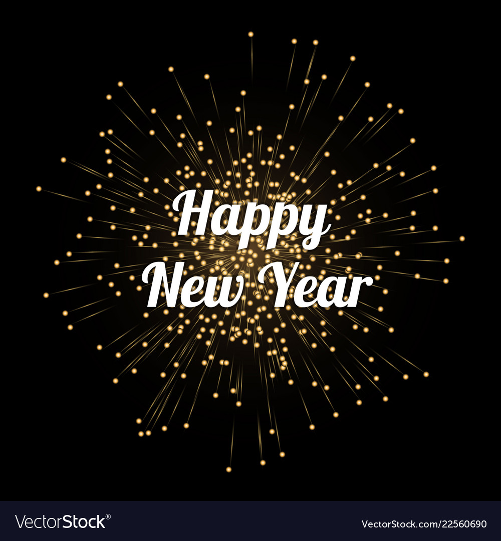 new year celebration card template vector image