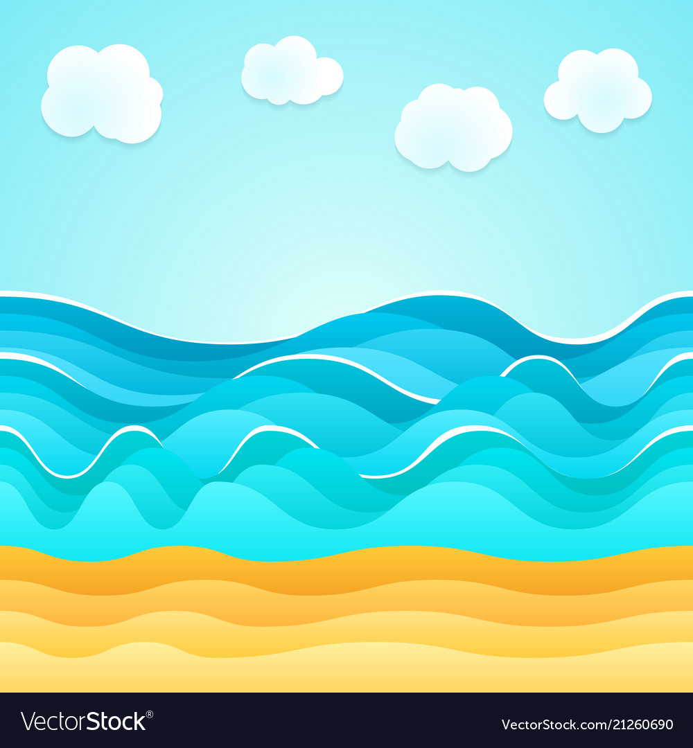Summer beach sand sea clouds holiday tourism
