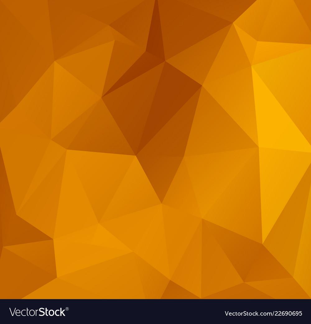 Abstract orange polygonal mosaic background