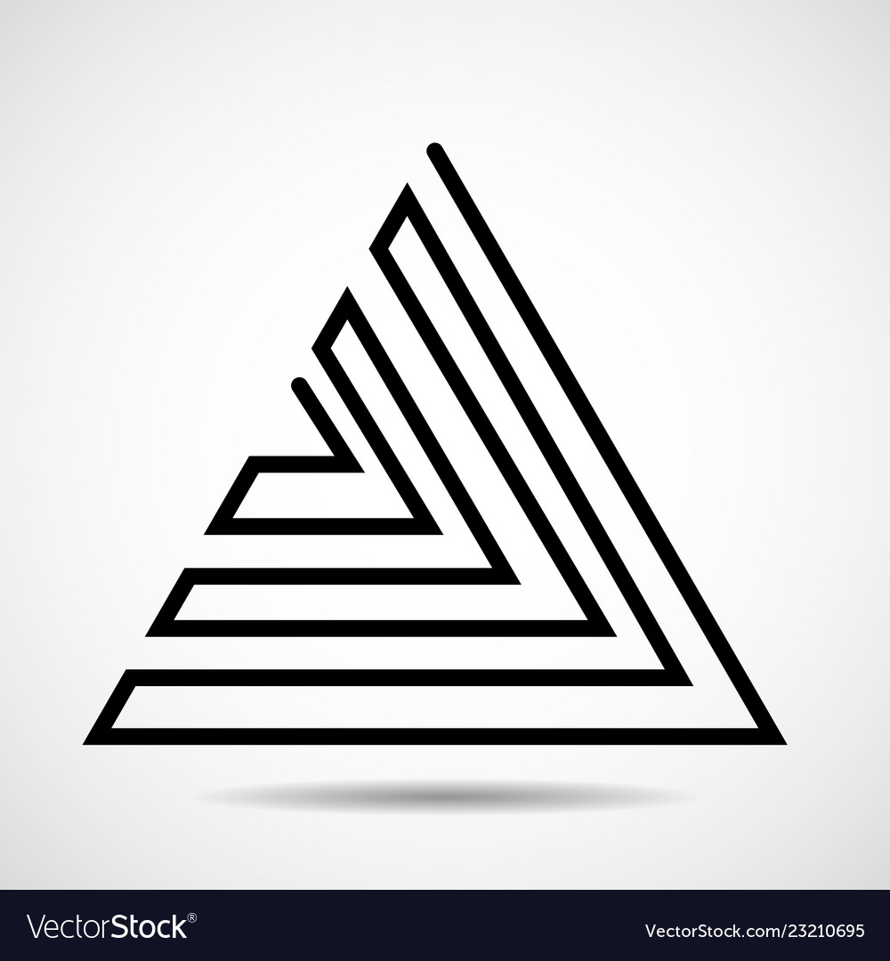 Abstract triangle of line design element