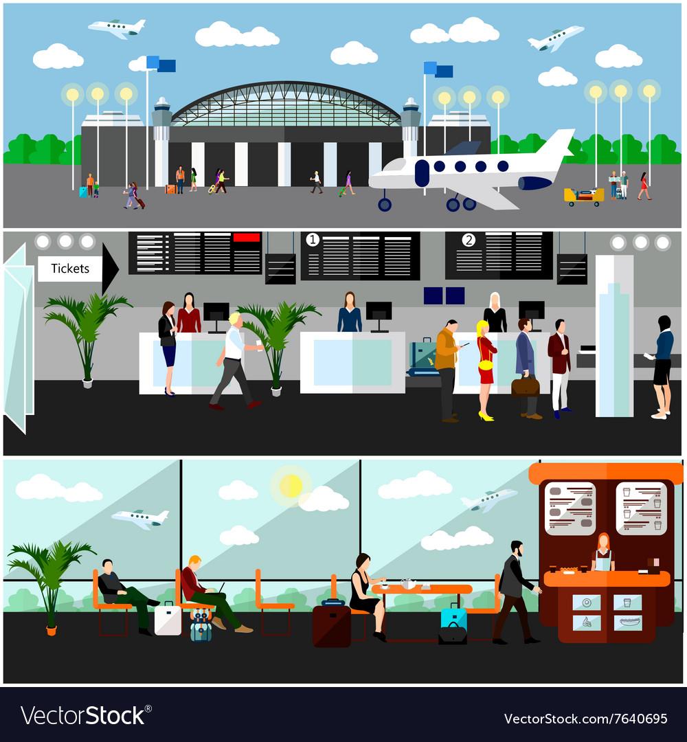 Airport terminal concept air