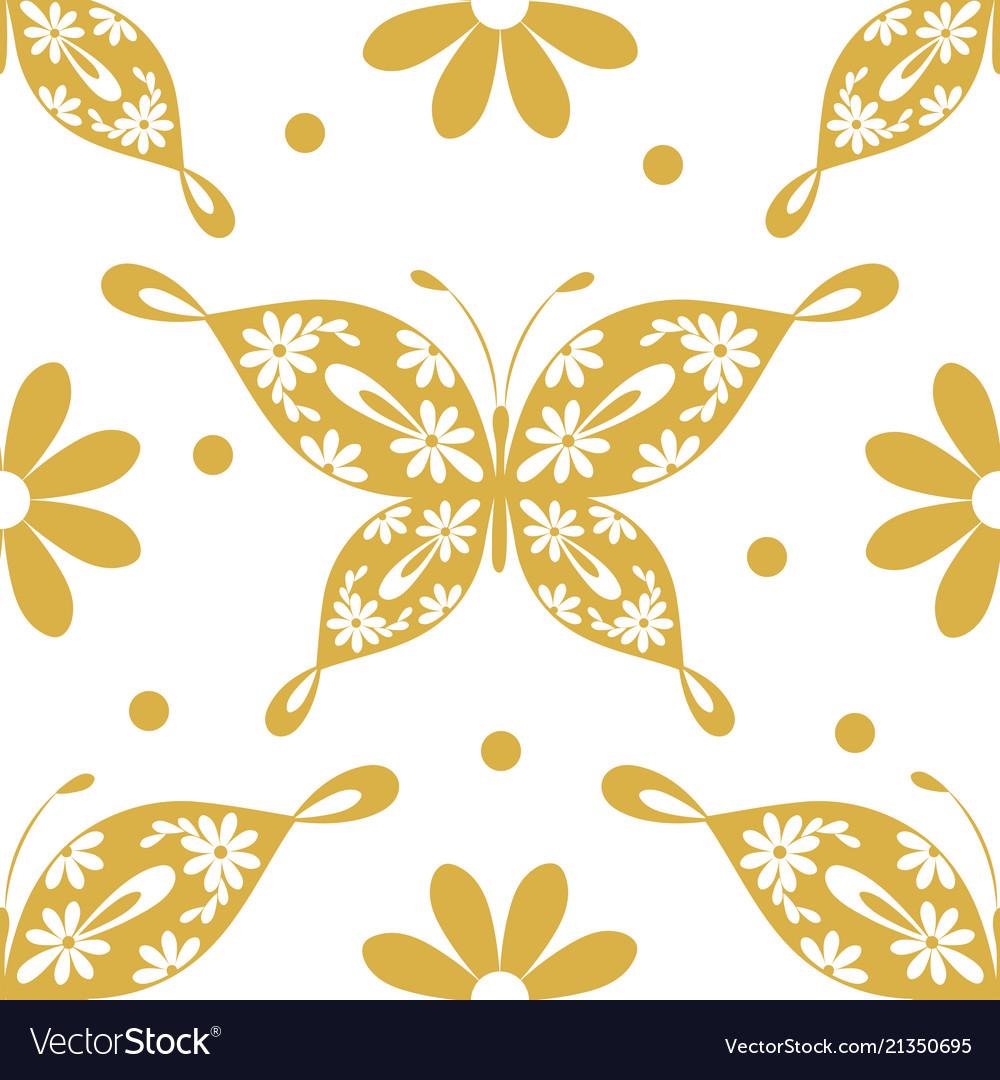 Beautiful seamless pattern with butterflies