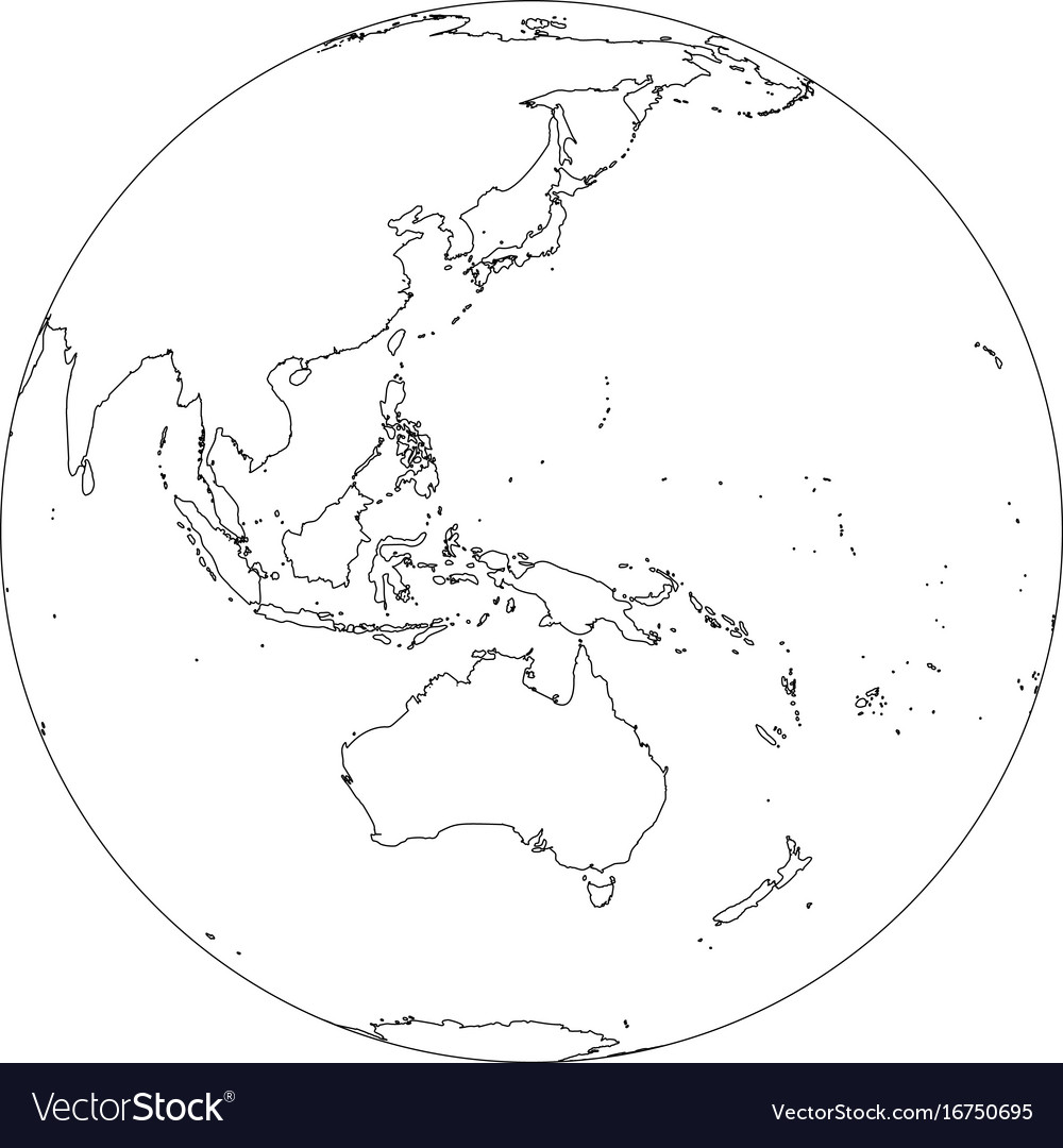 Earth globe wireframe focused on australia and