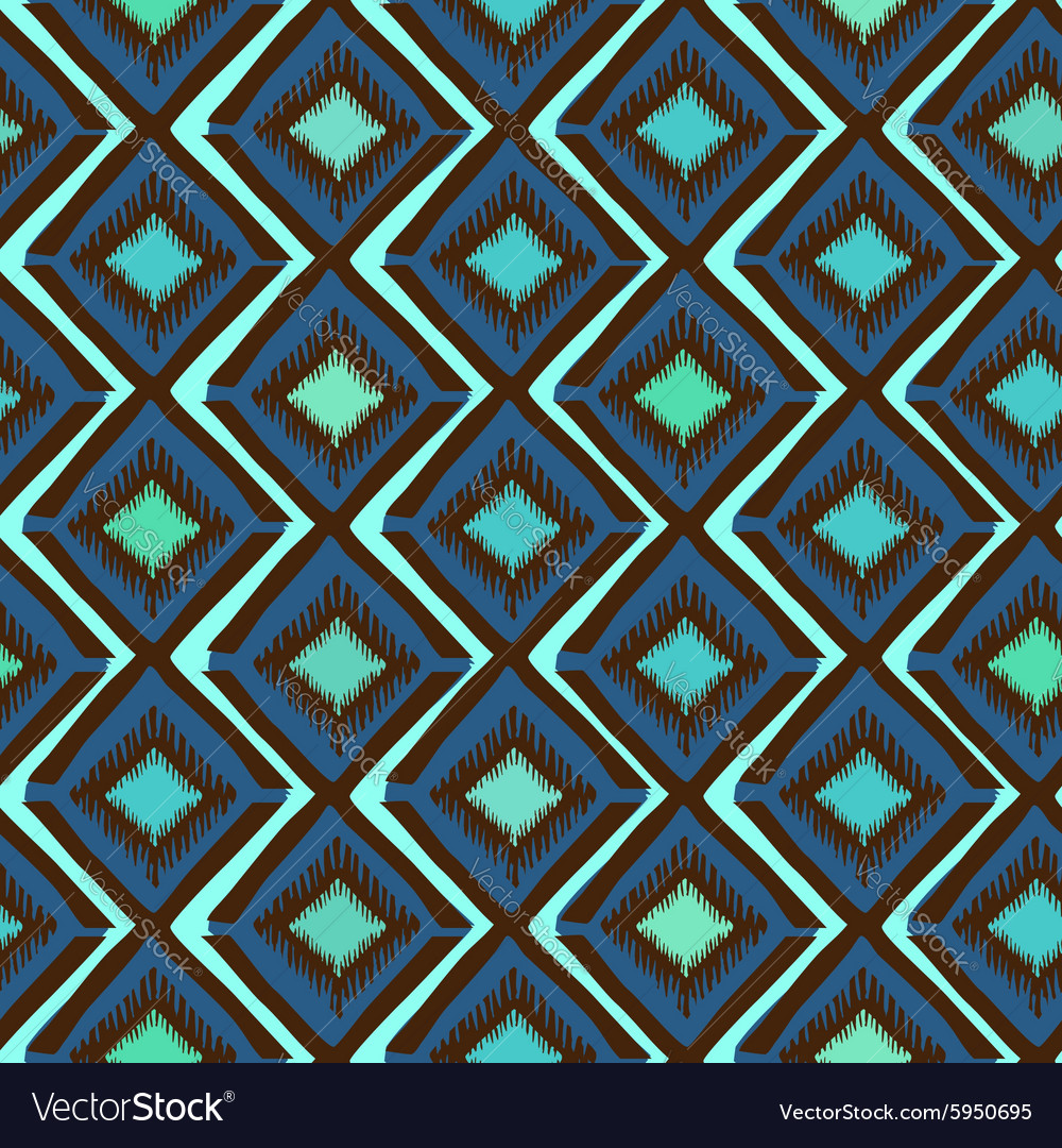 Ethnic tribal geometric seamless pattern