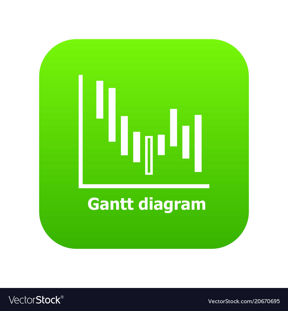 Gantt diagram icon green royalty free vector image gantt diagram icon green vector image ccuart Choice Image