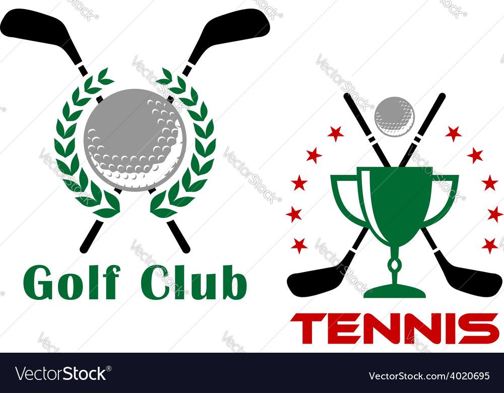 Golf club heraldic logo or emblems vector image