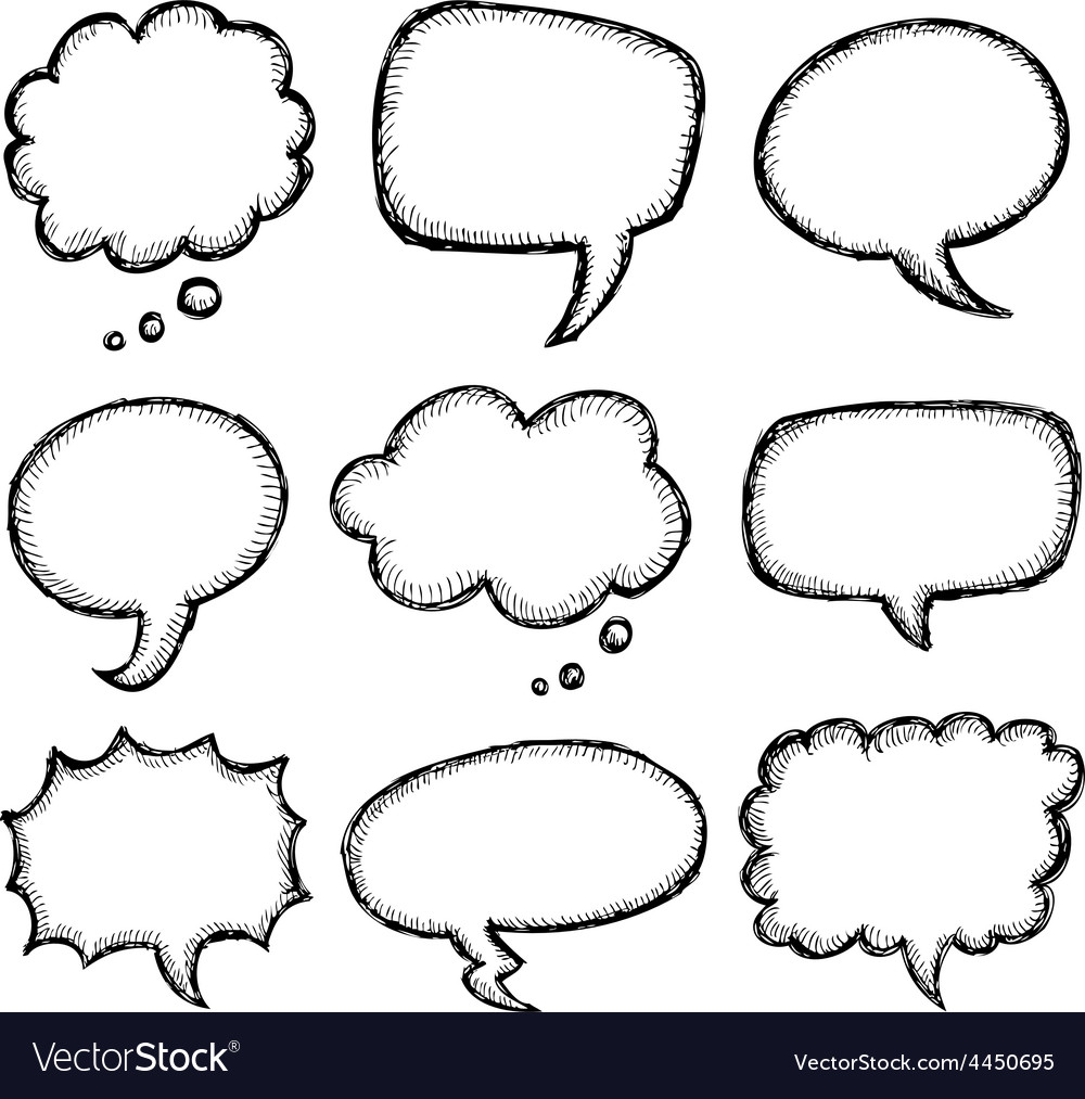 hand drawn comic speech bubble royalty free vector image rh vectorstock com thought bubble vector art thought bubble vector png