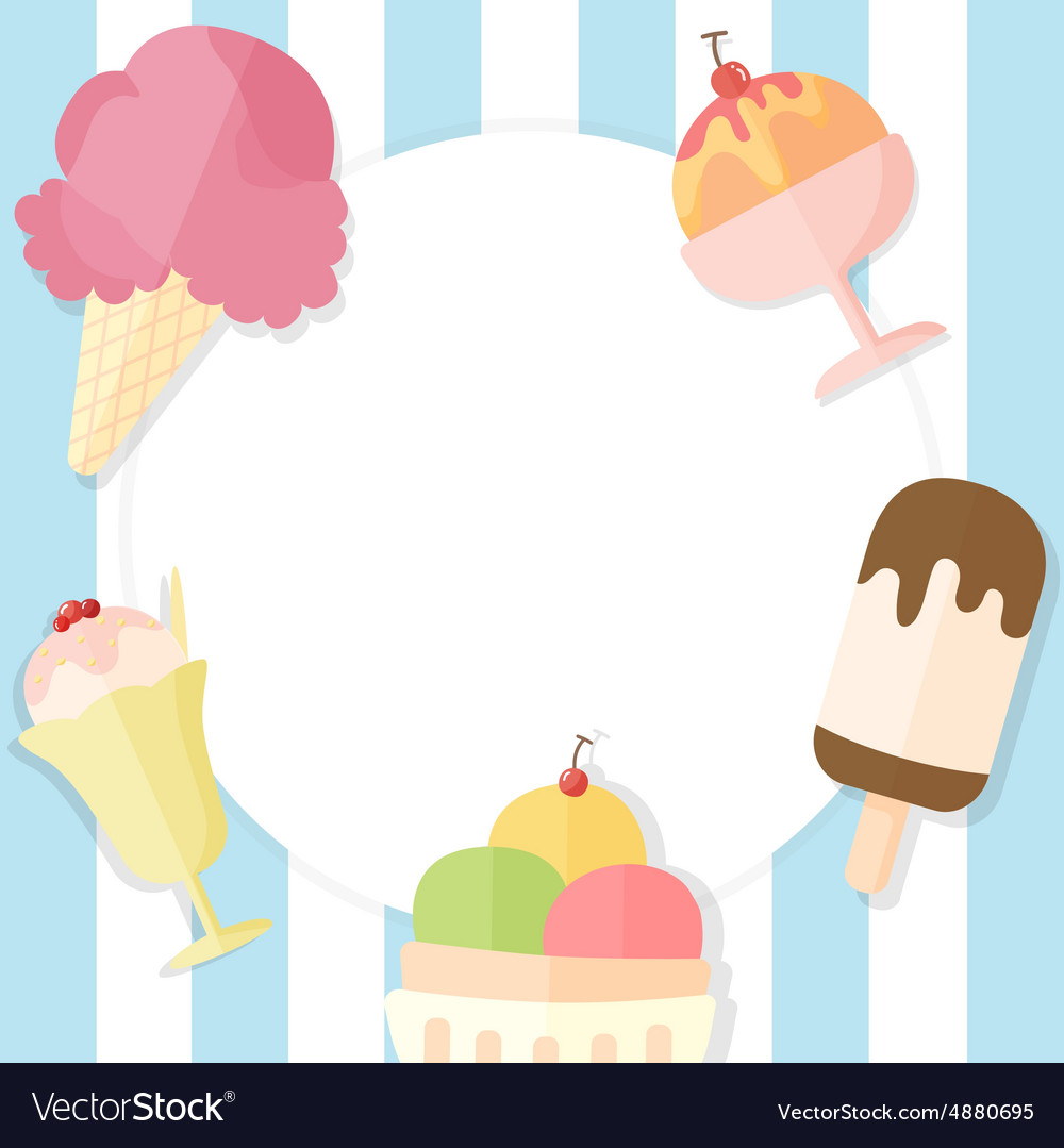 Ice Cream Cones Background Royalty Free Vector Image: Ice Cream Summer Background Royalty Free Vector Image