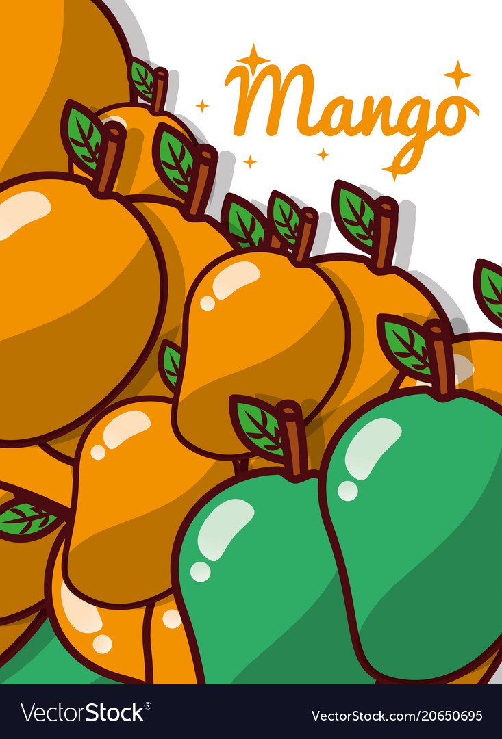 Mango fruit juicy sweet poster