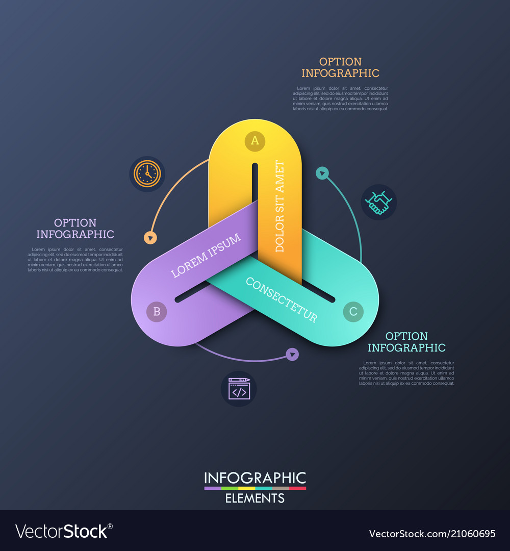 Modern infographic design templates with 3