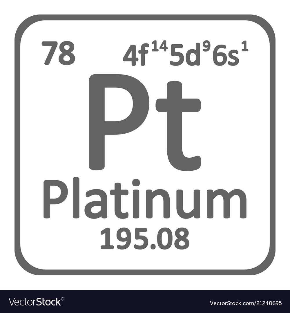 Periodic Table Element Platinum Icon