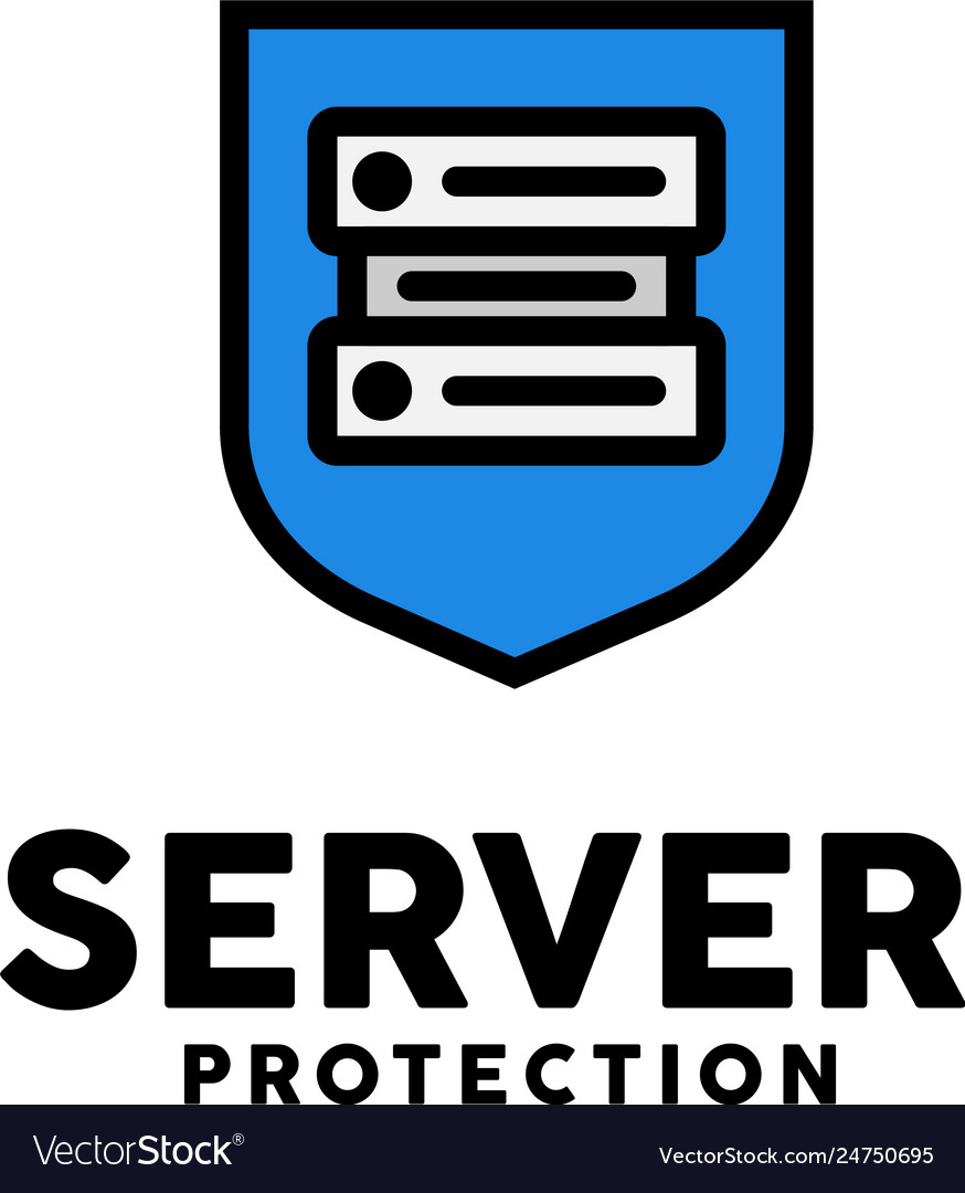 Server protection logo design inspiration