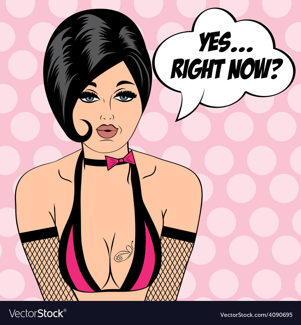 Sexy horny woman in comic style xxx