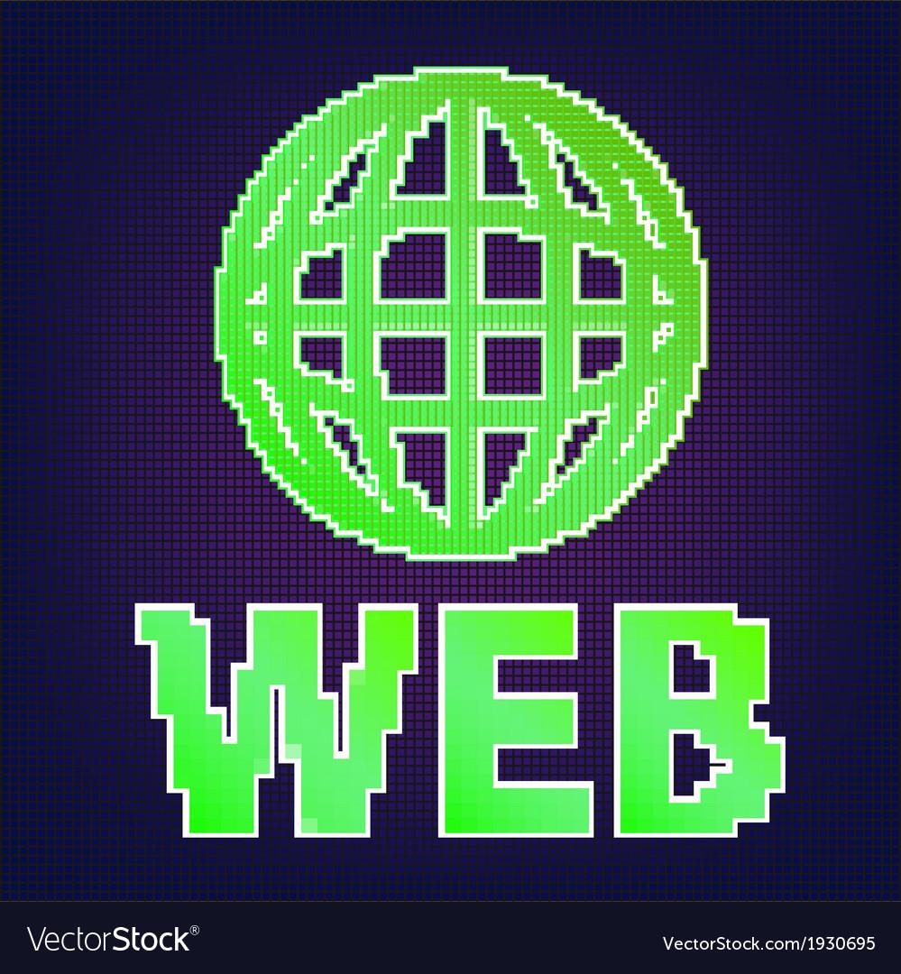 Symbol Of Internet Royalty Free Vector Image Vectorstock