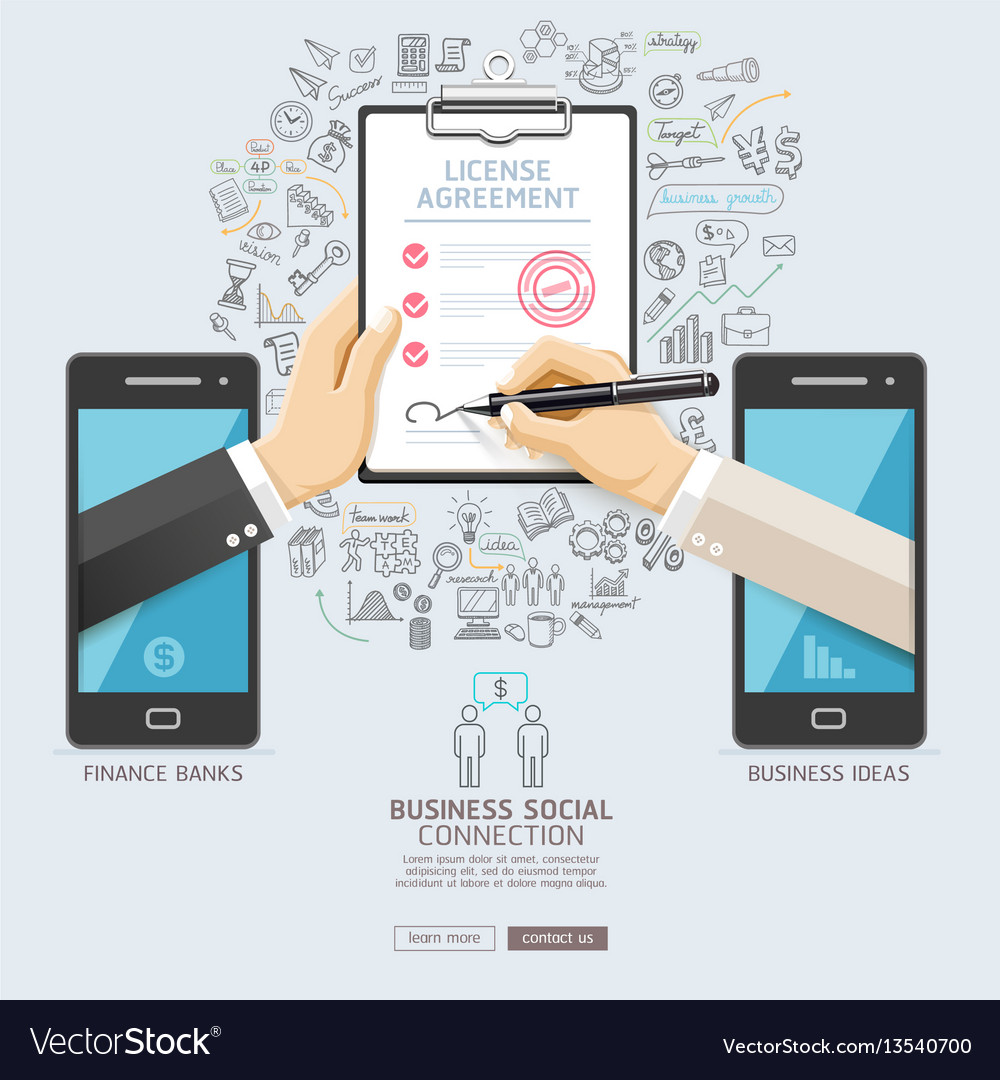 Business social connection technology conceptual
