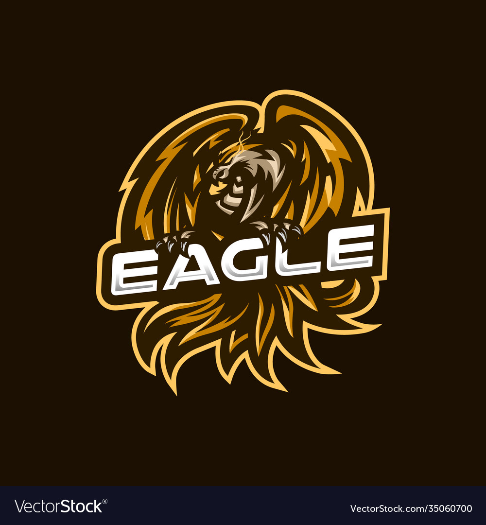 Eagle esport gaming mascot logo template for