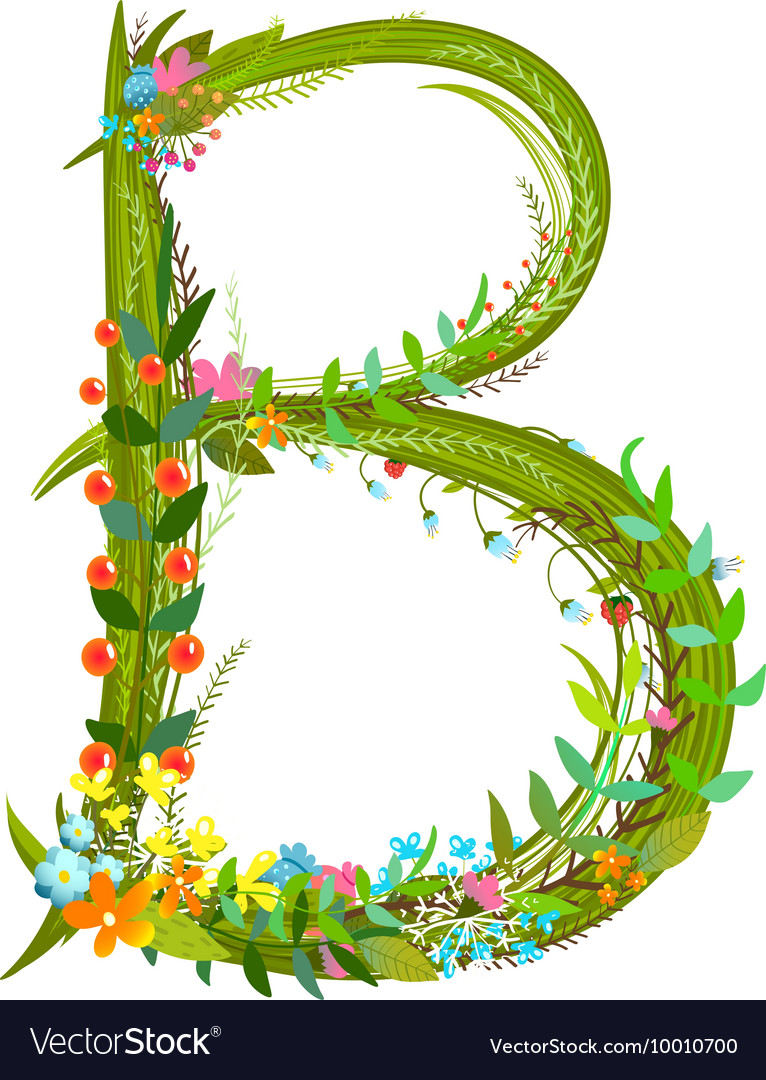 Flower calligraphy floral elegant decorative